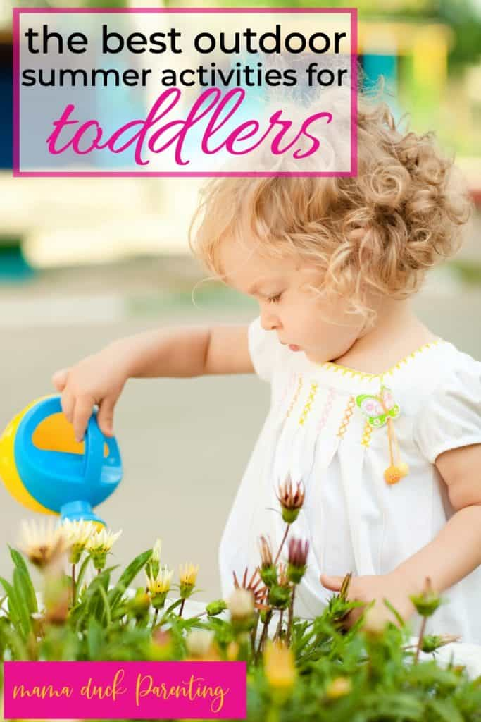 little girl having fun outside enjoying the best outdoor summer activities for toddlers