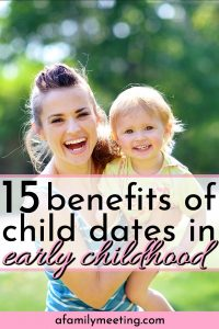 mommy and daughter playing on a mommy daughter date for benefits of taking your child on a date in early childhood