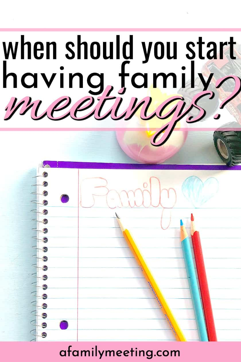 paper and colored pencils for a family who is going to start having family meetings with small children