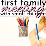little girl coloring getting ready for her first family meeting