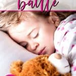 child sleeping peacefully after mom defeating 3 year old bedtime battle