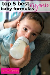 adorable baby eating a bottle of the best organic baby formula
