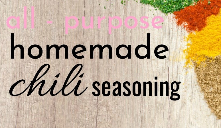 various chili seasoning spices with text all purpose homemade chili seasoning recipe