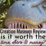 t-rex dinosaur on creation museum review for traveling with kids
