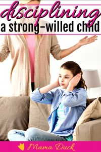 mom and daughter happy sitting back to back because mom understands disciplining a strong willed child