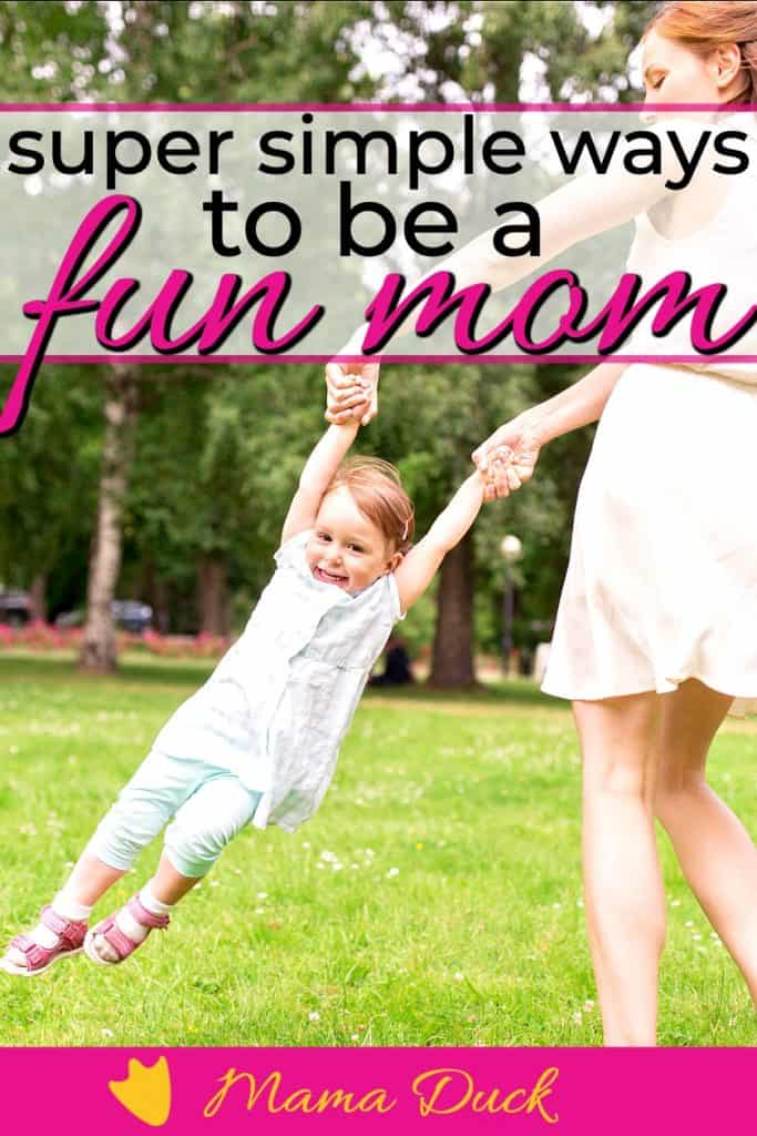 woman in bright colors flipping her daughter while learning how to be a fun mom the simple way