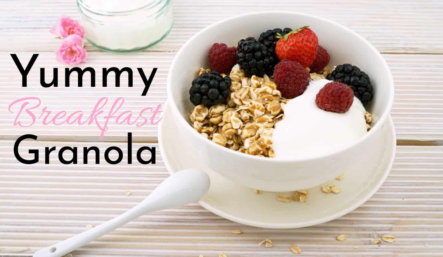 homemade breakfast granola cereal