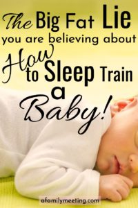 How to sleep train a baby.