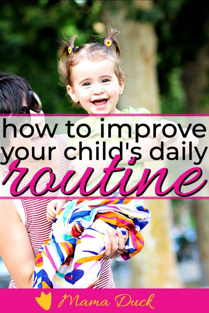 mon and toddler daughter having fun with an improved daily routine for toddlers