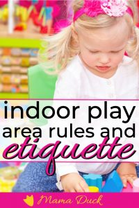 little girl playing with indoor play area rules and etiquette