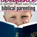 little boy reading the bible learning obedience is better than sacrifice