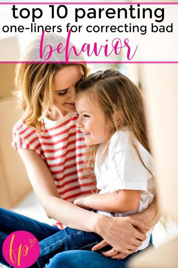 mom and daughter happy after mom correcting bad behavior