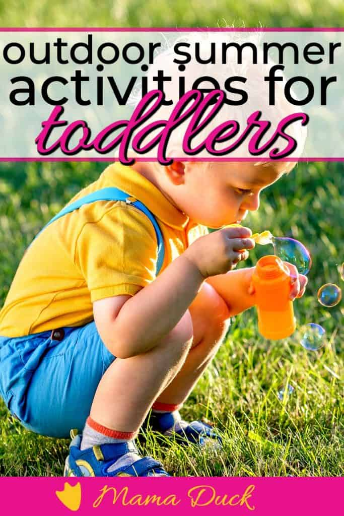 little boy playing outdoor summer activities for toddler