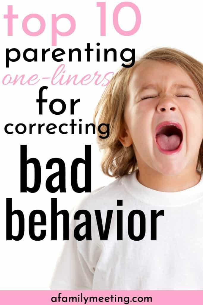 child screaming who needs correcting a child's bad behavior