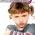 cute little girl in stripes pouting stop child whining