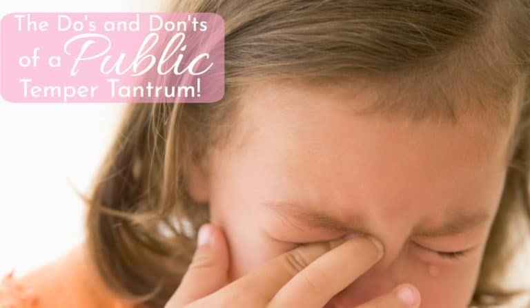 What To Do When Your Child Throws A Temper Tantrum In Public