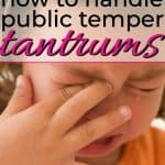 little girl having a temper tanrum in public