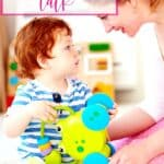 mom sitting on the floor with child how to teach your toddler to talk