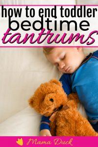 toddler boy sleeping peaceful after defeating toddler bedtime tantrums