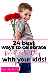 cute boy holding flowers for his mom the best ways to celebrate valentine's day with kids